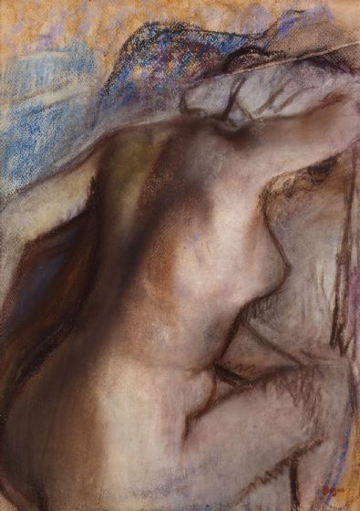 Degas, Edgar: After the Bath, Woman Drying Herself. Fine Art Print/Poster. Sizes: A4/A3/A2/A1 (003735)